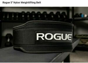 """NEW Rogue 5"""" Nylon Weightlifting Belt X-Large"""