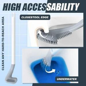 Golf Brush Cleaner  -- Toilet Brush Long-Handled Wall-Mounted Silicone Brush