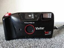 VIVITAR PS50DB DATE-A-PRINT FOCUS FREE AUTO-FLASH 35 mm CAMERA