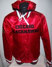 CHICAGO BLACKHAWKS Jacket S M LG XL 2X RED & BLACK Removable Hood