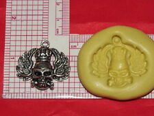 Skull with Wings Gothic Silicone Mold Cake Fondant Resin Clay Candy A4 Soap wax