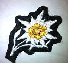 Edelweiss de casquette élite brodée fond noir Gebirgsjäger WH - REPRO