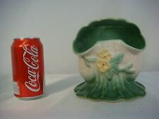 WELLER VASE ROBA ART POTTERY YELLOW GREEN FLOWER CUT AWAY VINTAGE ANTIQUE FOOTED