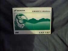 Honda CRF 70 OEM Genuine Owners Manual. CRF70F XR 04 +many years