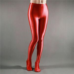 PLUS SIZE Sexy Women Silky Tights Stockings Satin Glossy Pantyhose Shiny Hosiery