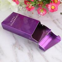 Fashion Lady Women Slim Cigarette Box Cigarette Case Aluminum Metal Holder Box