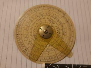 Circular Slide Rule, Vintage. Tools. workshop, woodwork, garage, protractor, old
