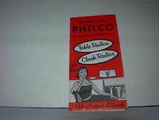 VINTAGE 1958 PHILCO TABLE & CLOCK RADIOS BOOKLET