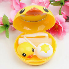Yellow Duck Portable Contact Lenses Lens Case Holder Box Travel Kit Vision Care
