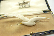 VINTAGE JEWELLERY CELLULOID FLYING SEAGULL BIRD BROOCH PIN CHARLES HORNER