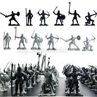 60pcs Soldaten Ritter Figuren Modell Spielzeug Armee Kampfspiel Kinder