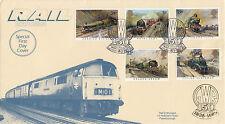 GB :1985 FAMOUS TRAINS-Rail Enthusiast Cover-GWR PADDINGTON 150 pictorial cancel