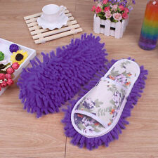 UK Microfiber Dust Mop Slippers Lazy Quick House Floor Cleaning Shoes Home Shoes