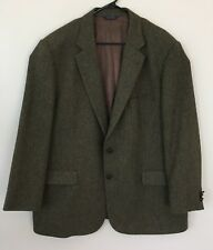 Brooks Brothers Men's Sport Jacket Blazer 1818 Madison 48R Green Brown Lambswool