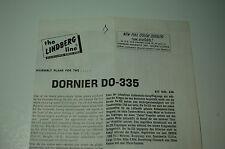 1/72ème PLAN DE MONTAGE POUR DORNIER DO-335  /  pour kit THE LINDBERG LINE N°438
