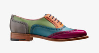 Handmade Women's Genuine Leather Six Tone Multi Colour Oxford Brogue Shoes