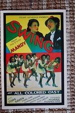 Swing Lobby Card Movie Poster Cora Green Hazel Diaz Carman Newsome Van Engle