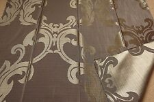 "Brown two-sided fabric remnant 75x110cm (29x43"") classic baroque pattern"