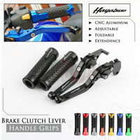CNC Brake Clutch Levers Handle Grip for SUZUKI HAYABUSA GSXR1300 GSX1300R 08-19