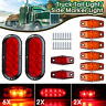 10x Amber/Red Truck Trailer LED Light kit Flange Mount Tail Side Marker Lamp