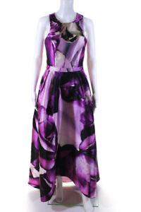 ML Monique Lhuillier Womens Cross-Back Ball Gown Fuchsia Pink Size 8 13450671