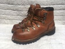 Vtg 80's Red Wing Irish Setter Brown Mountaineering Hiking Boots Size USA 7.5
