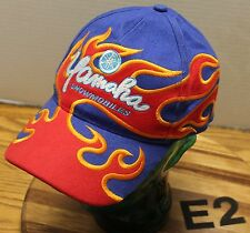 NICE YAMAHA SNOWMOBILES HAT BLUE, RED AND ORANGE STRAPBACK EMBROIDERED VGC E2