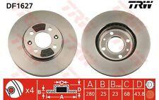 TRW Juego de 2 discos freno 280mm ventilado SAAB 9000 DF1627