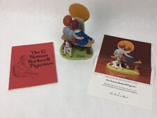 """Norman Rockwell Porcelain Figurine From The Danbury Mint """"Young Love"""""""