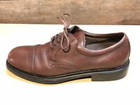 Hunter's Bay Mens Size 9 M Leather Collection Comfort Dress black Oxfords Shoes