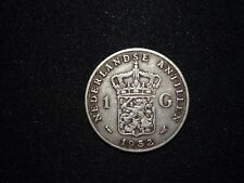 Netherlands Antillean Guilder - 1 Guilder - 1952 Silber - Juliana 1948-1980