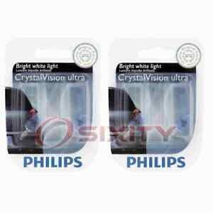 2 pc Philips Parking Light Bulbs for Ford Escape LTD 1981-2016 Electrical on