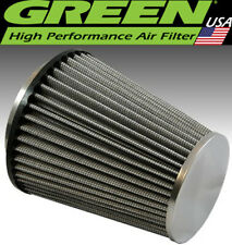"Green Filter USA 2850 Reusable Undyed High Air Flow Element Cone 3.5"" ID 6.5"" L"