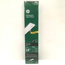 "General Electric Premium 18"" Fluorescent Light Fixture Metal, Direct Wire, White"