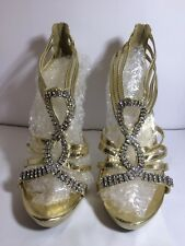 Gold Formal Homecoming Prom Shoes