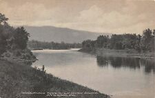 ATHENS PENNSYLVANIA CHEMUNG RIVER LOOKING SOUTH~MESSNER DRUGGIST POSTCARD 1912