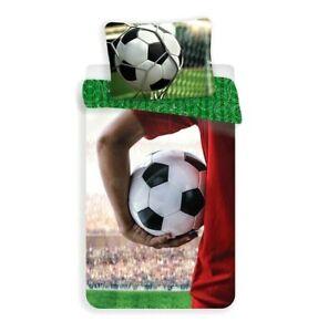 100% Cotton Duvet Cover Pillowcase Set Boys Single Quilt Football Sport Bedding