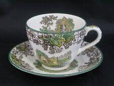 Vintage Copeland Spode Spode's Byron Tea Cup & Saucer - brown mark c1930 - S1069