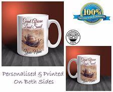 Giant African Land Snail Personalised Ceramic Mug: Perfect Gift. (P021)