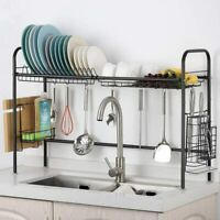 Dish Rack Stainless Steel Over Sink Dish Drying Rack Home Kitchen Space Saver