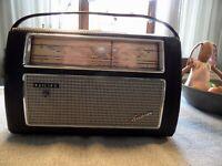 Philips Transistorradio Babette L4D22T/03 Kofferradio 1962 Sammler Radio Leder