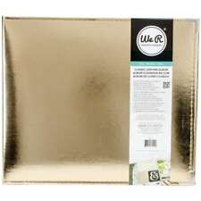 """American Crafts - We R Memory Keepers Classic Gold Leather Album - 12"""" x 12"""""""