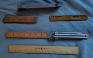 Vintage antique 1930's 1940's ruler yardstick  lot