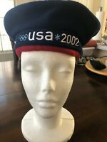 2002 USA WINTER SALT LAKE OLYMPICS ROOTS BERET HAT CAP