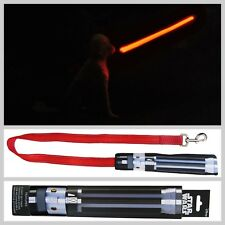 Star Wars Light Up Darth Vader Lightsaber Dog Lead With USB Charger