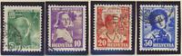Switzerland Stamps Scott #B81 To B84, Used
