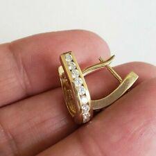 Pierced Earrings 3.1(gr) Not Scrap Signed Asgold New listing 14k Gold 585 Cz Small Hoops