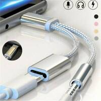 USB-C Type-C To 3.5mm Aux Audio Charging Cable Adapter Splitter Headphone Jack