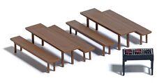 BUSCH 7782 Spur H0 Mini-Set: Bierzeltgarnitur und Grill #NEU in OVP#