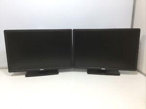 Dell P2213T 22 Inch Office Monitor 1680x1050 *Lot Of 2* (Display Port, DVI, VGA)